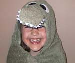 alligator hooded toddler bath towel