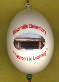 Allisonville Elementary school ornament