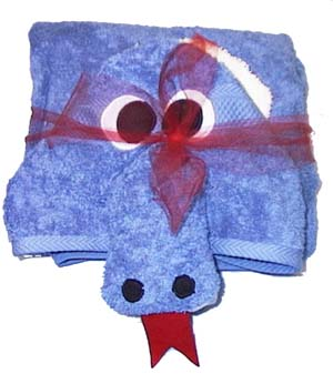 blue dragon towel