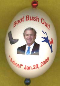 funny anti bush joke ornament
