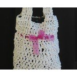plastic crochet purse