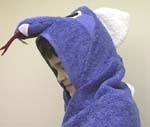 saphira the blue dragon hooded beach towel