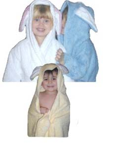 bunny rabbit kids hooded towel