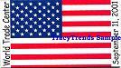 American Flag - World Trade Center Magnet