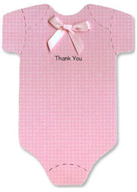 Onesie Thank You Notes