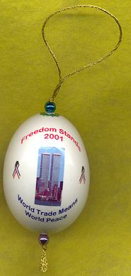 world trade center tribute freedom stands ornament