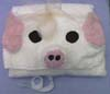white pig hooded towel