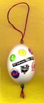 2000 Subway Series baseball christmas ornament