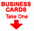 vehicle business card window sticker