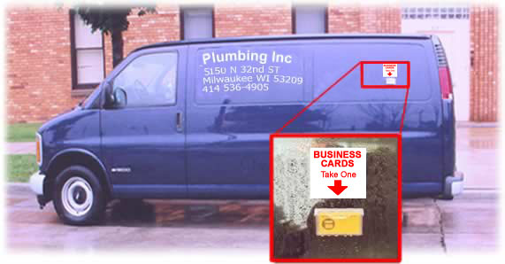 wall business card holder