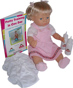 potty training baby doll patty