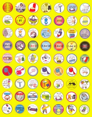 potty training stickers sheet